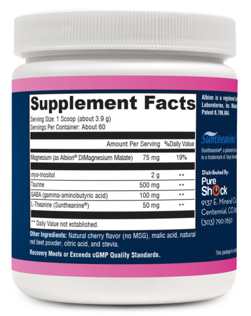 Recovery - Supplement Facts